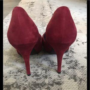 Stuart Weitzman Shoes - Stuart Weitzman Dressage burgundy suede peeptoe